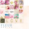 "Лист бумаги ""Надписи"", коллекция ""Pretty pink"" (Fleur design), 30х30 см"