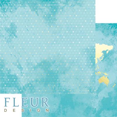 """Лист бумаги """"Блестящая сеть"""", коллекция """"Pretty tiffany"""" (Fleur design), 30х30 см"""