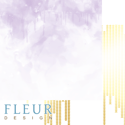"""Лист бумаги """"Сиреневая акварель"""", коллекция """"Pretty violet"""" (Fleur design), 30х30 см"""