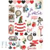 """Лист для вырезания коллекция """"В стране чудес""""  (Fleur design), А4"""