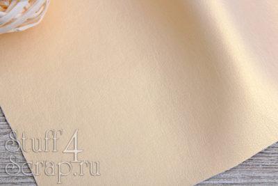 Кожзам перламутровый, золотой, 25*35 см