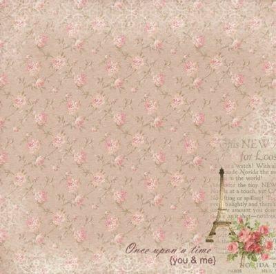 "Лист бумаги ""Романтика Парижа"", коллекция ""Французское Путешествие"" (ScrapBerry's), 30х30 см"