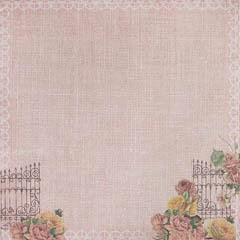 """Лист бумаги """"Розовый сад"""", коллекция """"Французское Путешествие"""" (ScrapBerry's), 30х30 см"""