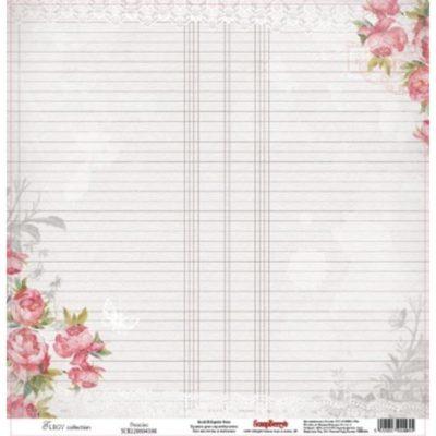 """Лист бумаги """"Пионы"""", коллекция """"Элегия"""" (ScrapBerry's), 30х30 см"""