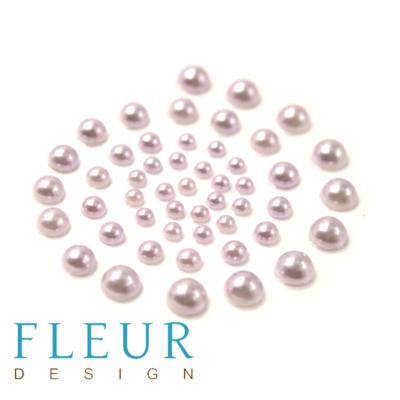 Набор полужемчужин Лаванда (Fleur design), 1 оттенок, 50 шт