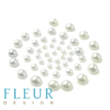Набор полужемчужин Нежный Голубой, 1 оттенок, 50 шт (Fleur design)