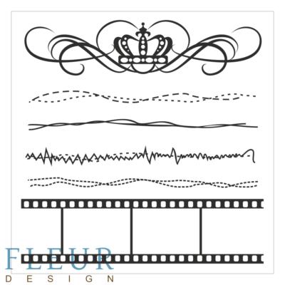 """Набор штампов Ретро,коллекция """"Фоновые"""""""", 10,5х10,5 см (Fleur design)"""