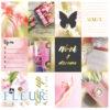 "Набор карточек ""Pretty pink"" (Fleur design), 7,5х10 см, 12 шт"