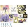 """Набор карточек """"Pretty violet"""" (Fleur design), 9,5х9,5 + 5х5 см, 12 шт"""