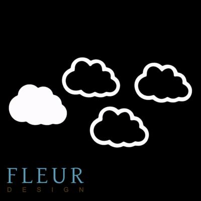 """Заготовка для шейкера """"Облако"""" (Fleur design), 6,5х4см"""