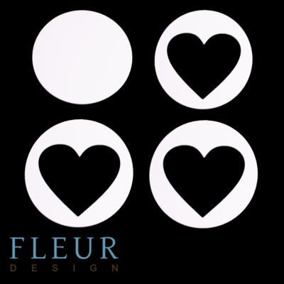 """Заготовка для шейкера """"Круг с сердцем"""" (Fleur design), 9х9 см"""