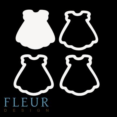 """Заготовка для шейкера """"Платье"""" (Fleur design), 8х8см"""