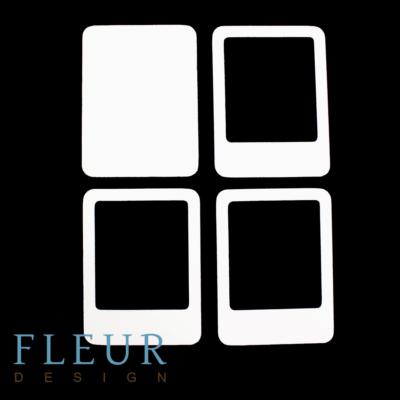 """Заготовка для шейкера """"Фоторамка Инстаграм"""" (Fleur design), 10х7,5см"""
