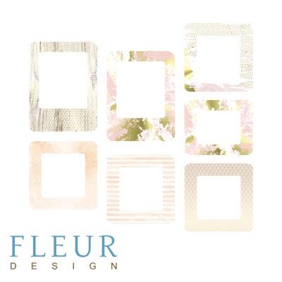 """Набор рамочек """"Розовый букет"""" коллекция """"Pretty pink"""" (Fleur design),7 элементов"""