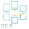 """Набор рамочек """"Утреннее небо"""" коллекция """"Pretty tiffany"""" (Fleur design),7 элементов"""