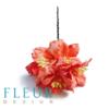 Цветы Лилии нежно-коралловые (Fleur design), 3,75 см, 5 шт