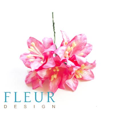 Цветы Лилии розовые (Fleur design), 3,75 см, 5 шт