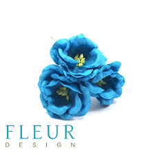 Цветы Магнолии бирюзовые (Fleur design), 4 см, 3 шт