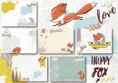 """Печатный блок для альбома (Baby book) """"Happy Fox for boy"""", от 0 до 7 лет, 21х21 см или с длинным корешком"""