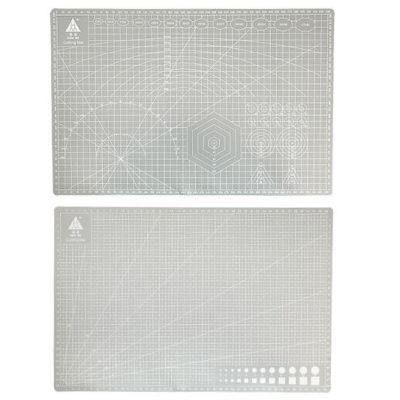 Коврик для резки, А3, двусторонний, серый