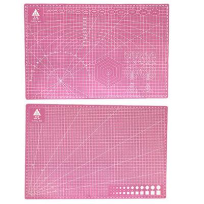 Коврик для резки, А3, двусторонний, розовый