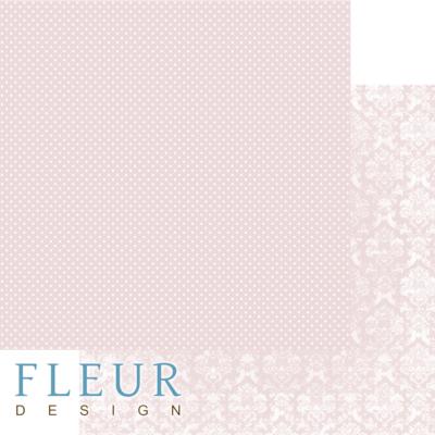 """Лист бумаги """"Светлый Коралловый"""", коллекция """"Шебби Шик Базовая 2.0"""", 30х30 см (Fleur design)"""