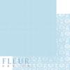 """Лист бумаги """"Нежный Тиффани"""", коллекция """"Шебби Шик Базовая 2.0"""", 30х30 см (Fleur design)"""