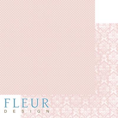 """Лист бумаги """"Светлый Лососевый"""", коллекция """"Шебби Шик Базовая 2.0"""", 30х30 см (Fleur design)"""