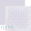 """Лист бумаги """"Светлый Черничный"""", коллекция """"Шебби Шик Базовая 2.0"""", 30х30 см (Fleur design)"""