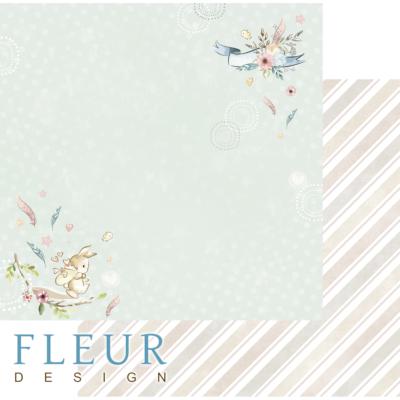 """Лист бумаги """"Прогулка"""", коллекция """"Нежный возраст"""", 30х30 см (Fleur design)"""