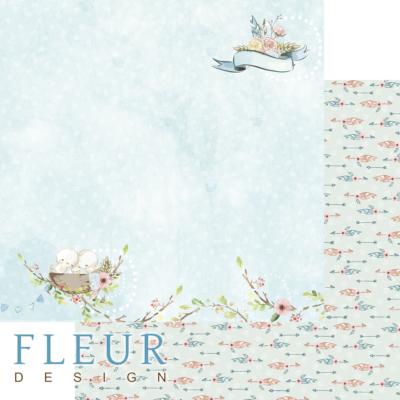 """Лист бумаги """"Моя семья"""", коллекция """"Нежный возраст"""", 30х30 см (Fleur design)"""