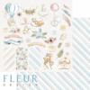 """Лист бумаги """"Любимые игрушки"""", коллекция """"Нежный возраст"""", 30х30 см (Fleur design)"""