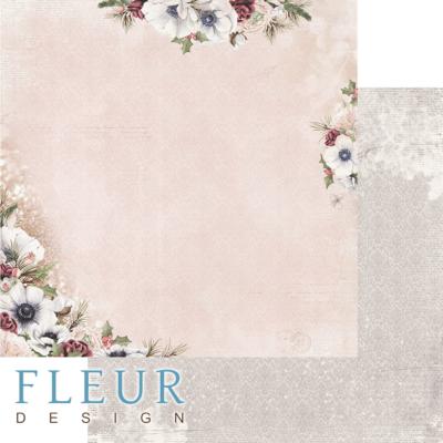 """Лист бумаги """"Блеск цветов"""", коллекция """"Сладкие праздники"""", 30х30 см (Fleur design)"""