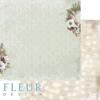 """Лист бумаги """"Новогодний венок"""", коллекция """"Сладкие праздники"""", 30х30 см (Fleur design)"""