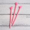 Ручка гелевая с фламинго, розовый