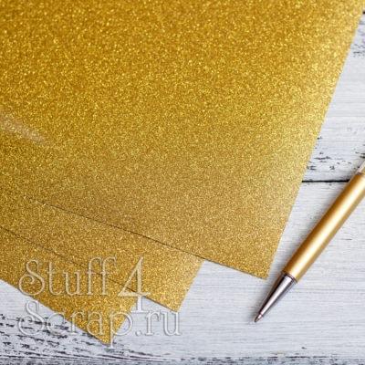 Термотрансферная пленка Glitter, золотой, 25х25 см