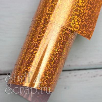Термотрансферная пленка голографическая, золото, 25х25 см