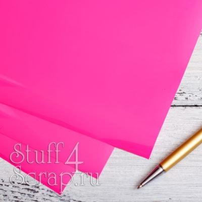 Термотрансферная пленка матовая, ярко розовый, 25х25 см