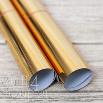 Термотрансферная пленка Metallic, зеркальное золото, 25х25 см