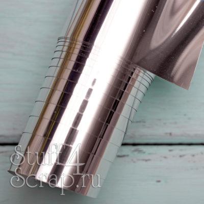Термотрансферная пленка Metallic, зеркальное серебро, 25х25 см