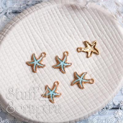 Металлическая подвеска морская звезда, голубой