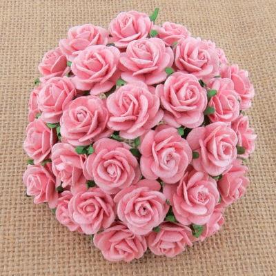 Открытые розочки 15 мм, нежно розовый, 10 шт.