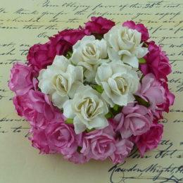 бумажные цветы ручной работы купить для скрапбукинга