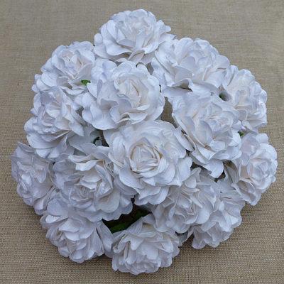 Розы тоскани кудрявые, белый, 3,5 см, 5 шт