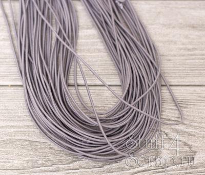 Резинка шляпная 2 мм, светло серый, 3 м.