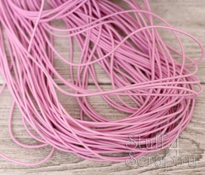 Резинка шляпная 2 мм, детский розовый, 3 м.