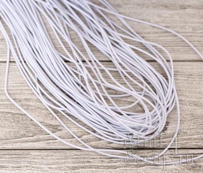 Резинка шляпная 2 мм, белый, 3 м.
