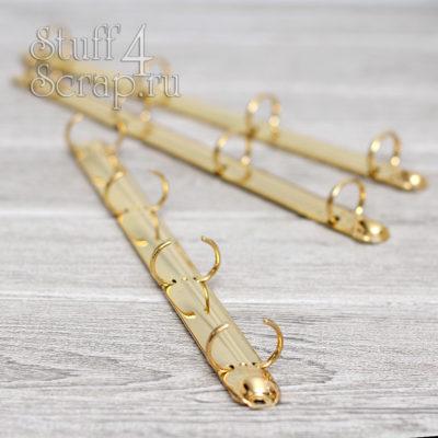 Кольцевой механизм на 4 кольца 2 мм, A4, с креплением винтик, золото