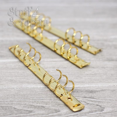 Кольцевой механизм на 6 колец 2,5 см, А5, с креплением винтик, золото