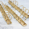 Кольцевой механизм на 6 колец 3 см, А6, с креплением винтики, золото